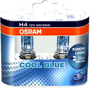 Osram 64193CBI-HCB Лампа H4 12V 60/55W P43T Coll Blue Intens DUO BOX