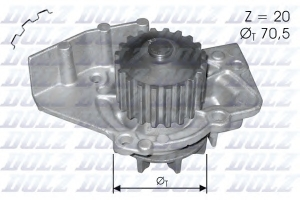 DOLZ C120 ПОМПА ВОД. CTR*PG*FT* 1.9-2.0 HDI  82-05