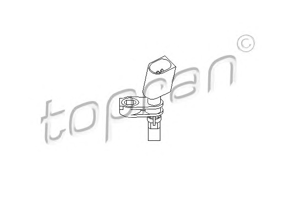 Topran 110608 Датчик ABS VW Polo 1.2-1.9 01- Front Right