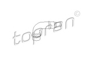 TOPRAN 111158 Патрубок   *** САПУНА VW*P5/G4/BR / A*A3/A4/A6 1.6i  ПЛАСТ