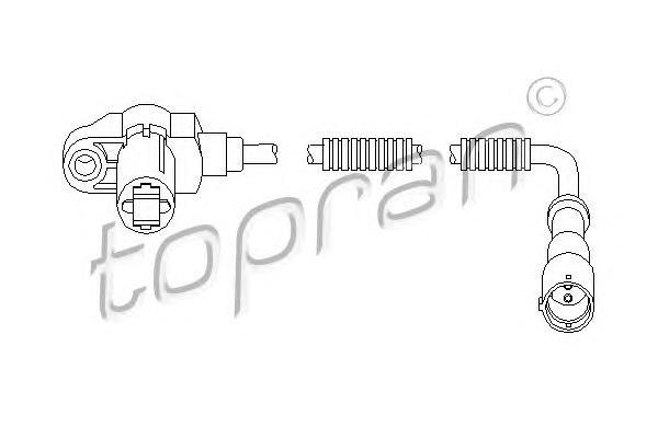 Topran 207448 Датчик ABS Opel Astra F -98 Front