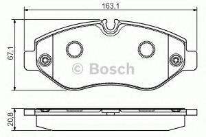 BOSCH 0986495098 Placutefrana