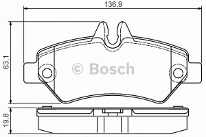 BOSCH 0986495100 Placutefrana
